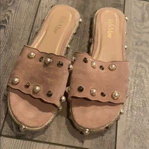 Dressy slides/sandals